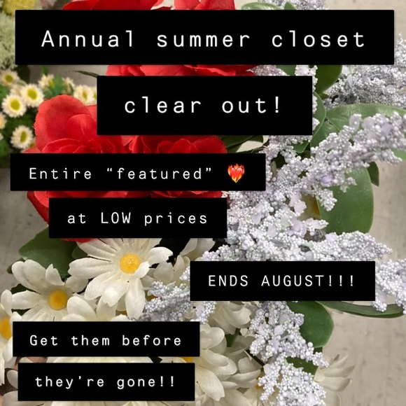Annual Closet Clear out!! Low prices get them now!